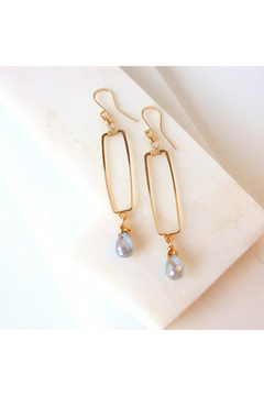 LINDA TRENT JEWELRY SILVERITE WINDOWPANE EARRINGS - Alternate List Image
