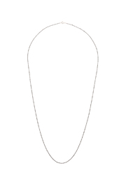 Silverlina Long Oxidize Chain Necklace - Front cropped