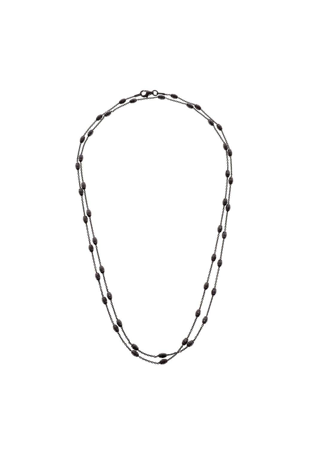 Silverlina Black Oxidize Chain Necklace - Main Image