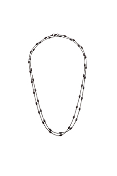 Shoptiques Product: Black Oxidize Chain Necklace