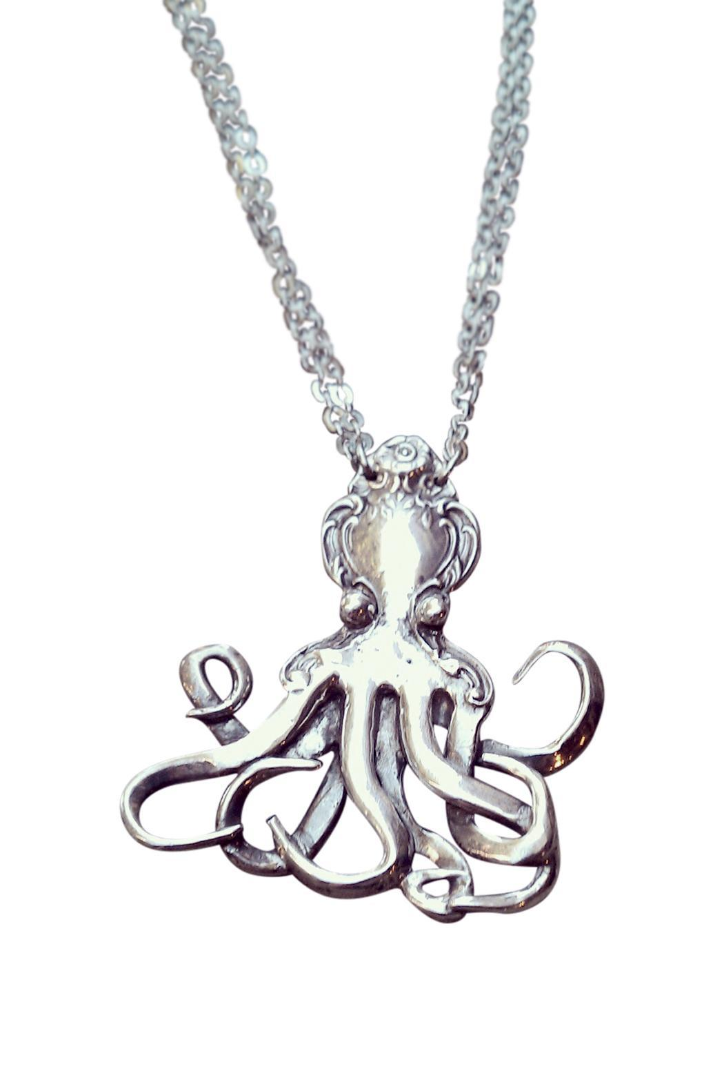 Silverspoon Octopus Necklace - Front Full Image