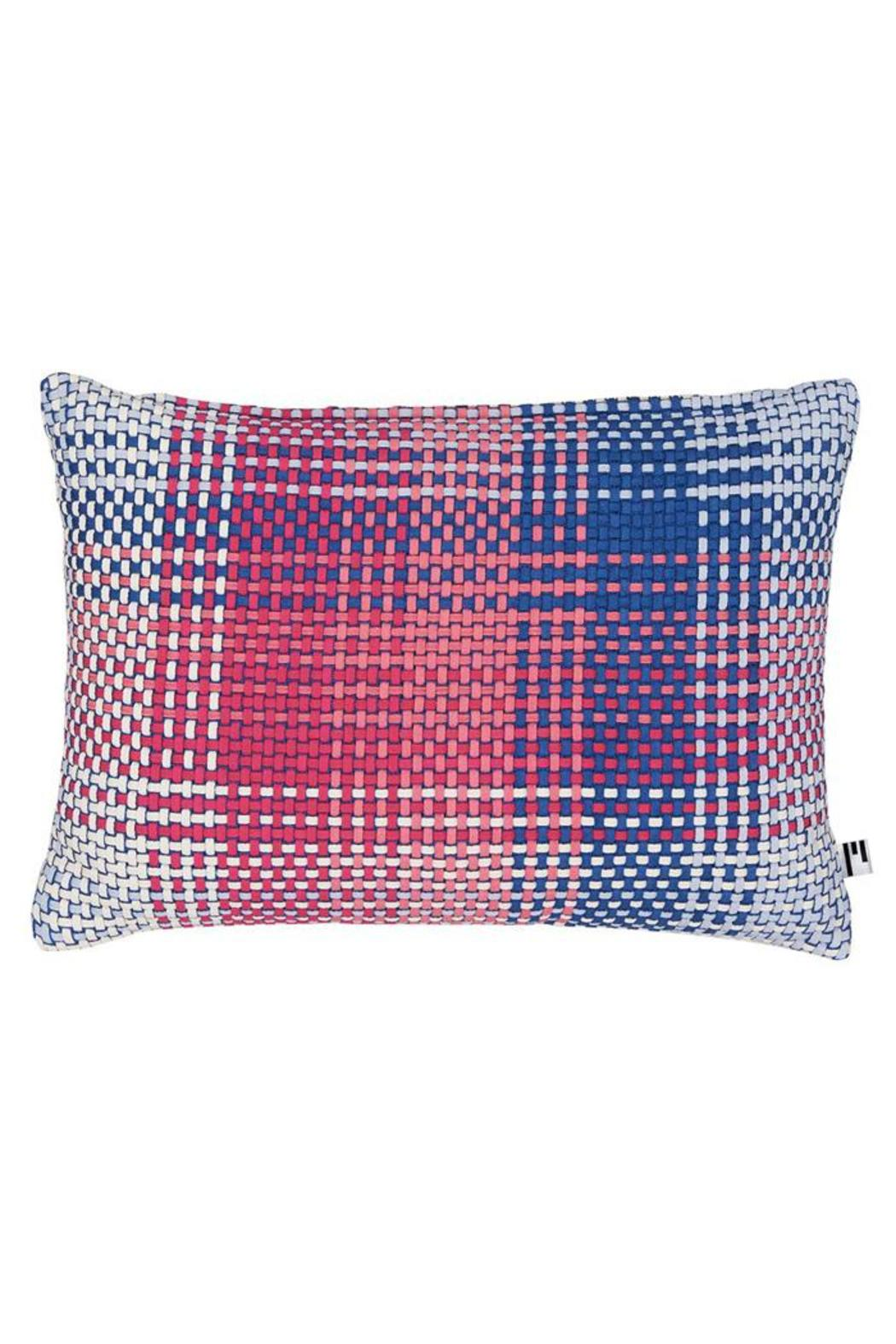 Simon Key Bertman Woven Shoelace Pillow - Main Image
