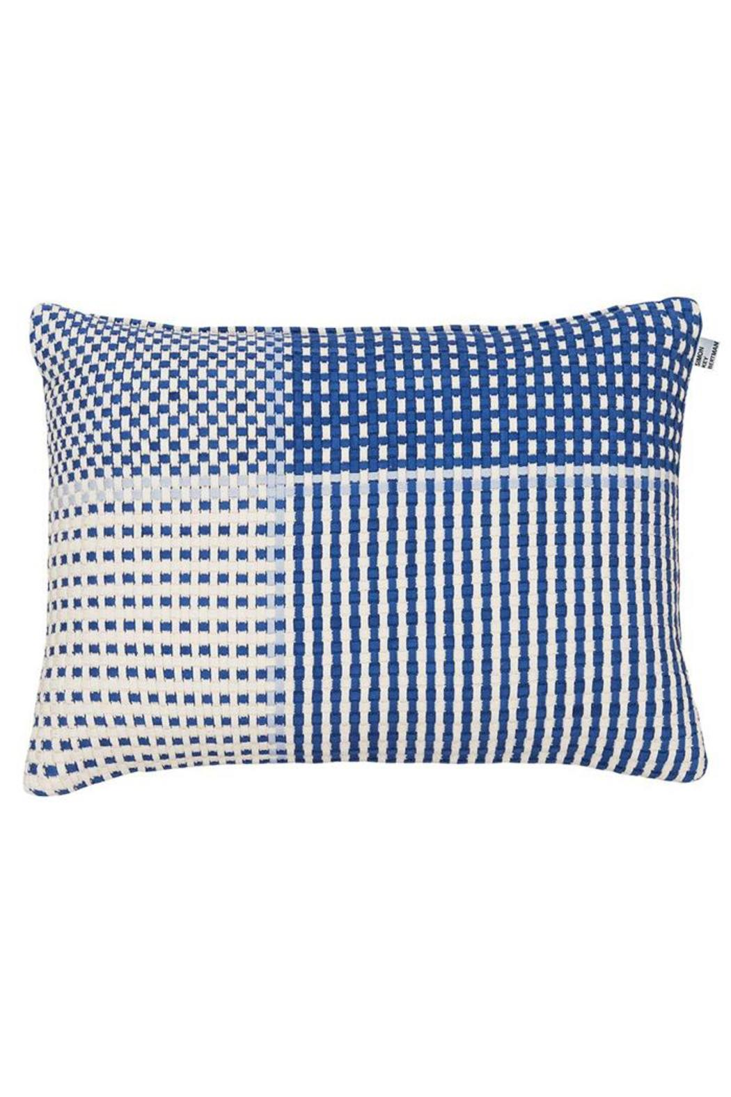 Simon Key Bertman Woven Shoelace Pillow - Front Full Image