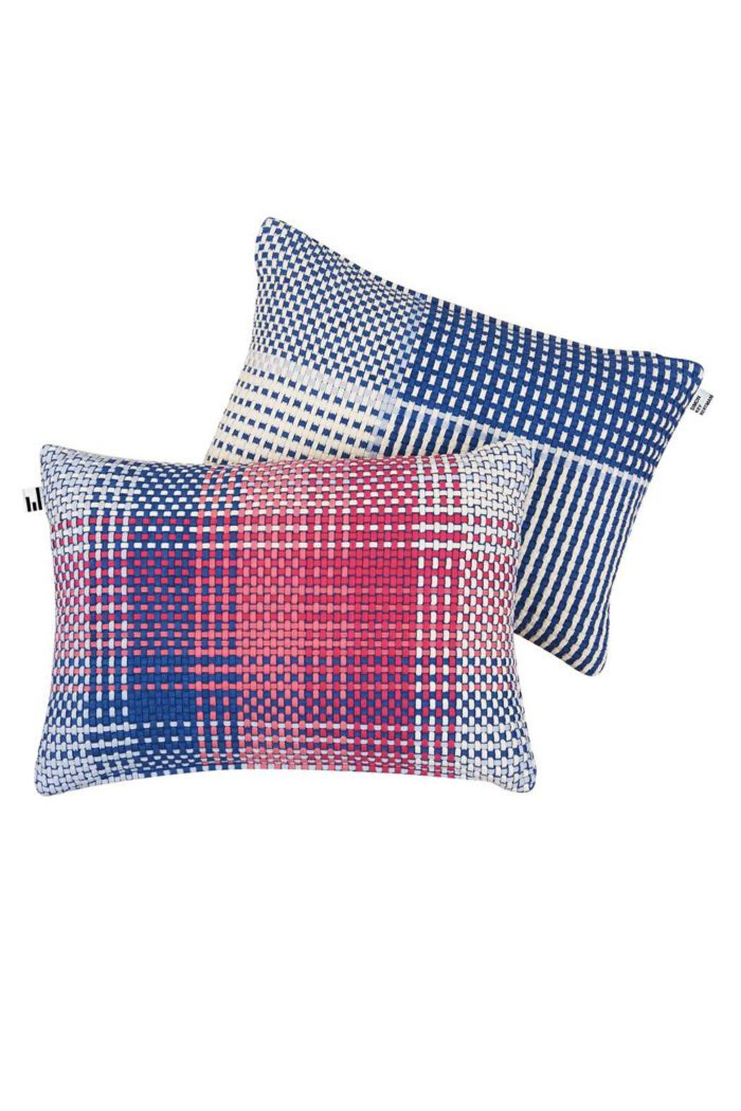 Simon Key Bertman Woven Shoelace Pillow - Back Cropped Image