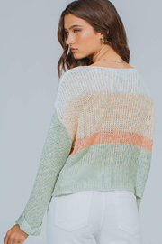 MinkPink Simone Color Block Knit Sweater - Back cropped