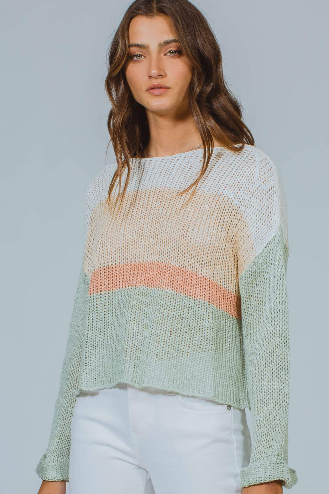 MinkPink Simone Color Block Knit Sweater - Main Image