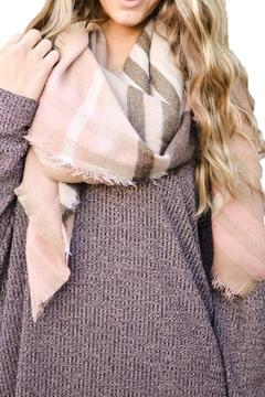 Shoptiques Product: Blush Frayed Scarf