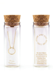 Kris Nations Simple Circle Charm Necklace - Product Mini Image