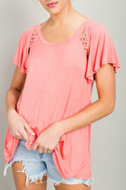 LLove USA Simple Detail top - Product Mini Image