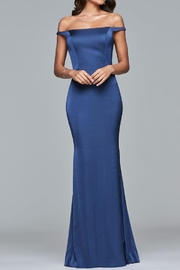 Faviana Simple Off-Shoulder Gown - Front cropped
