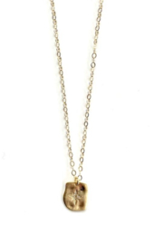 ERIN GRAY SIMPLE STARBURST GOLD FILLED NECKLACE - Product Mini Image