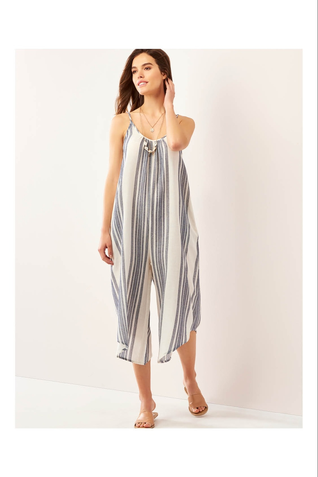 Giftcraft Inc.  Simple Striped Jumpsuit - Main Image