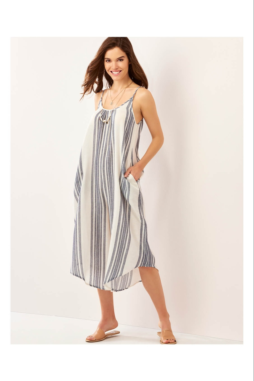 Giftcraft Inc.  Simple Striped Jumpsuit - Side Cropped Image