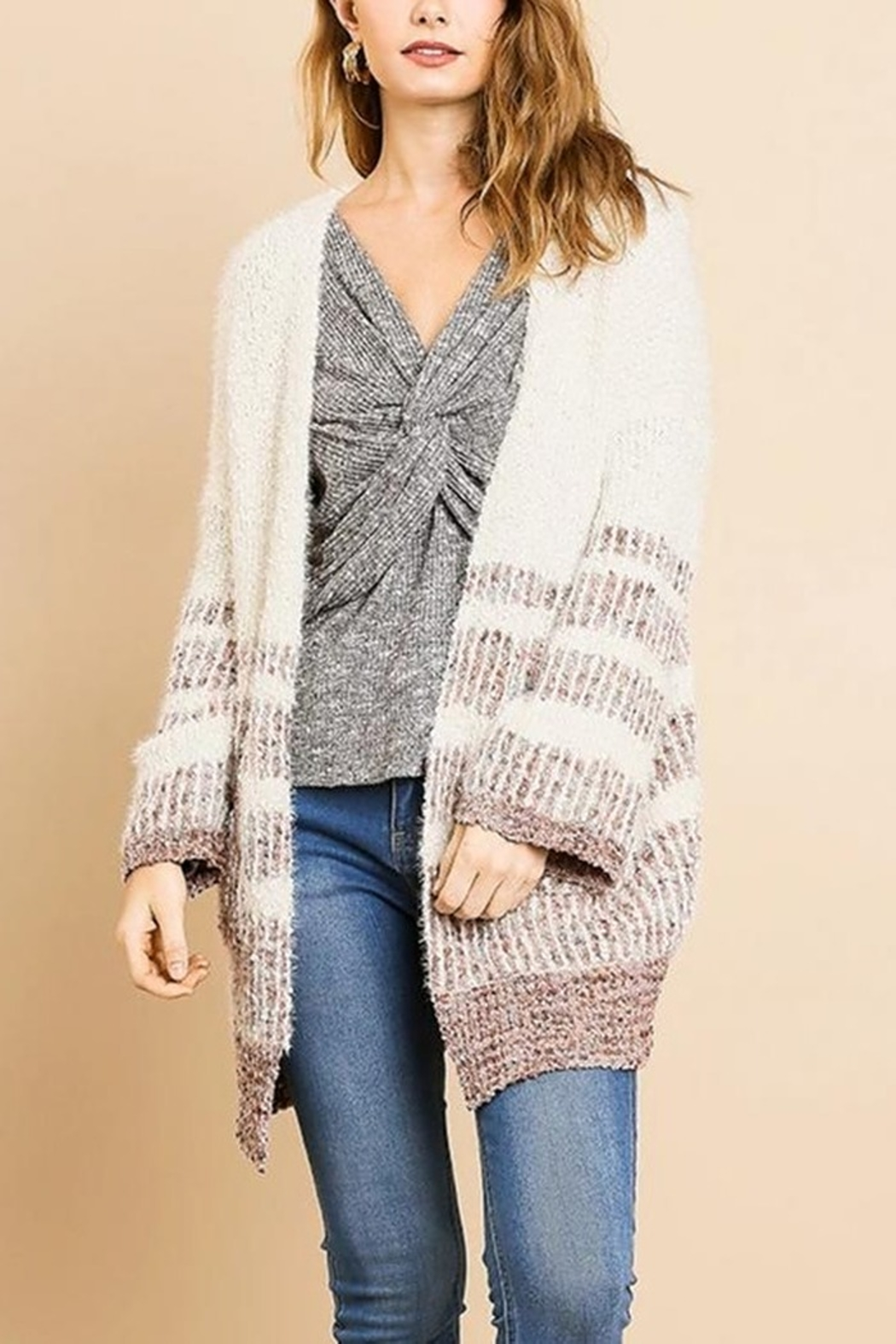 Umgee  Simple Stripes Cardigan - Main Image