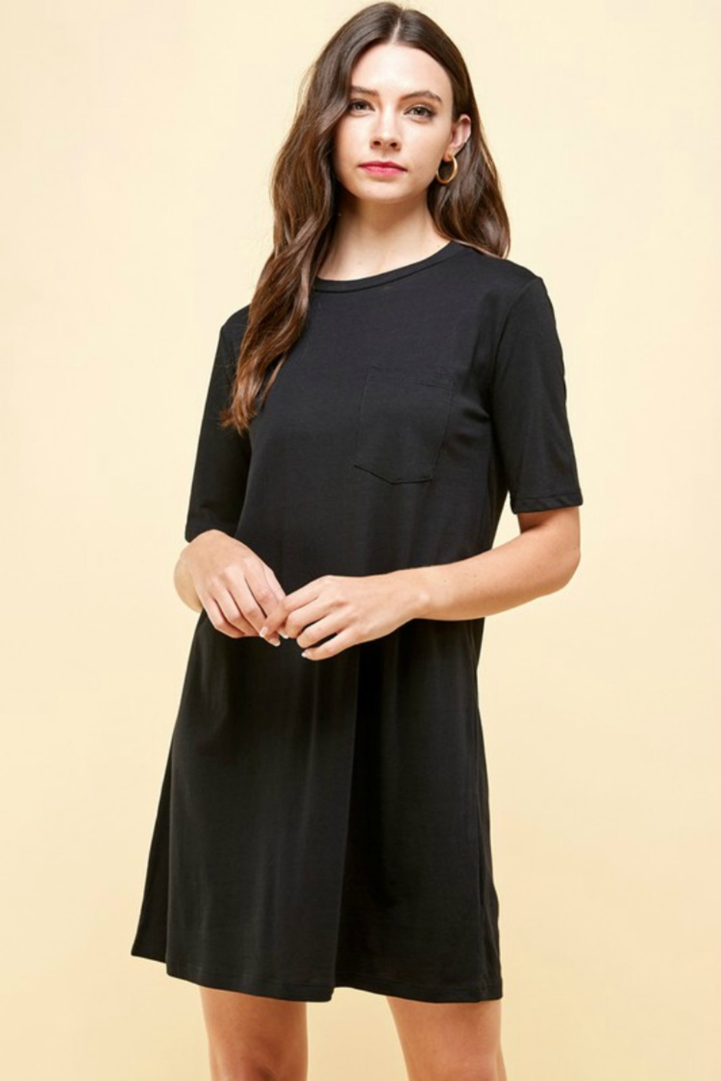 Emma's Closet Simple T Dress - Front Cropped Image