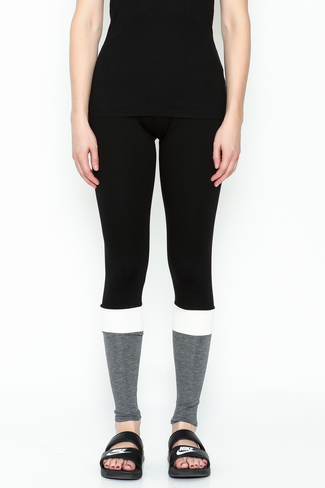simple the label Color Block Leggings - Front Full Image