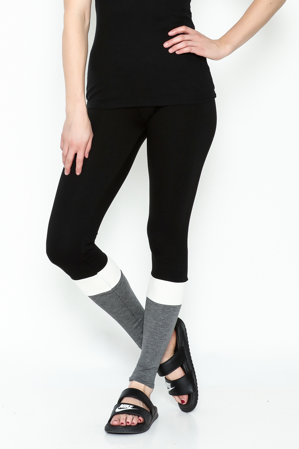 simple the label Color Block Leggings - Main Image