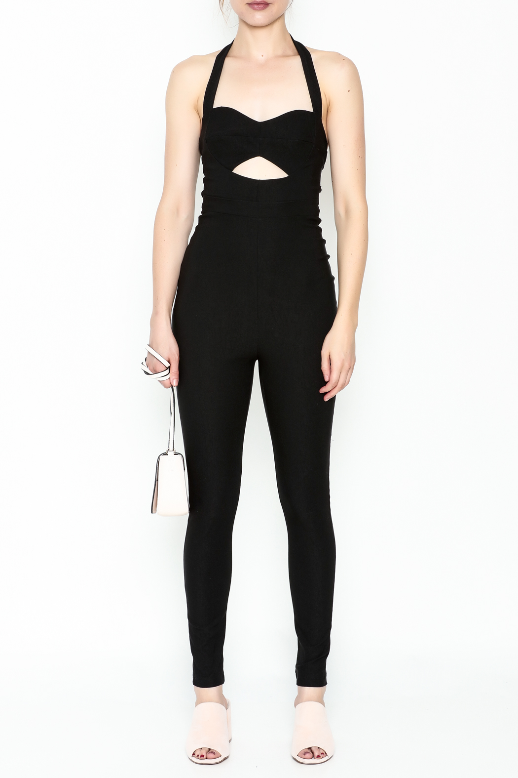 simple the label Cutout Jumpsuit - Front Full Image
