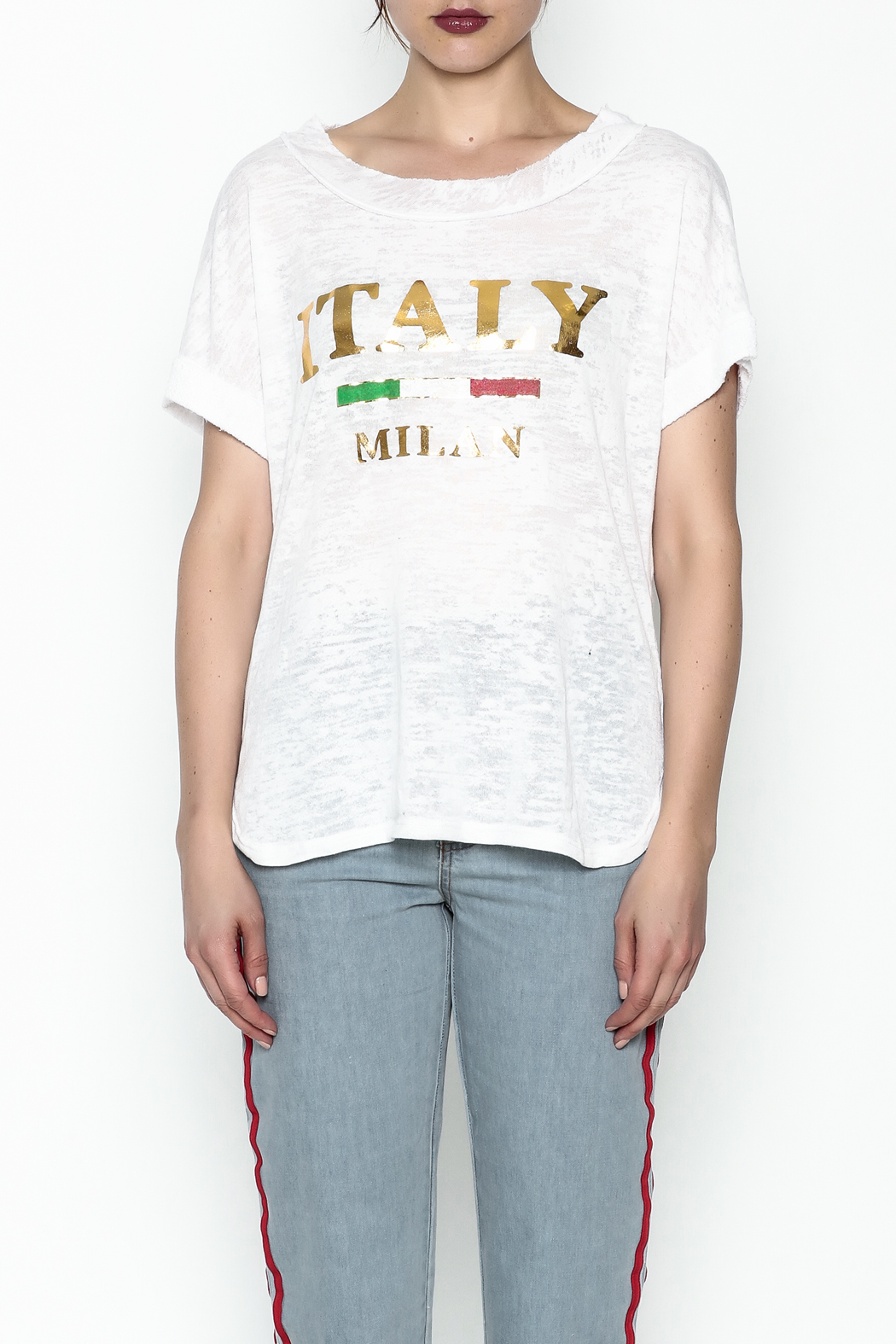 simple the label Italy Tee - Front Full Image