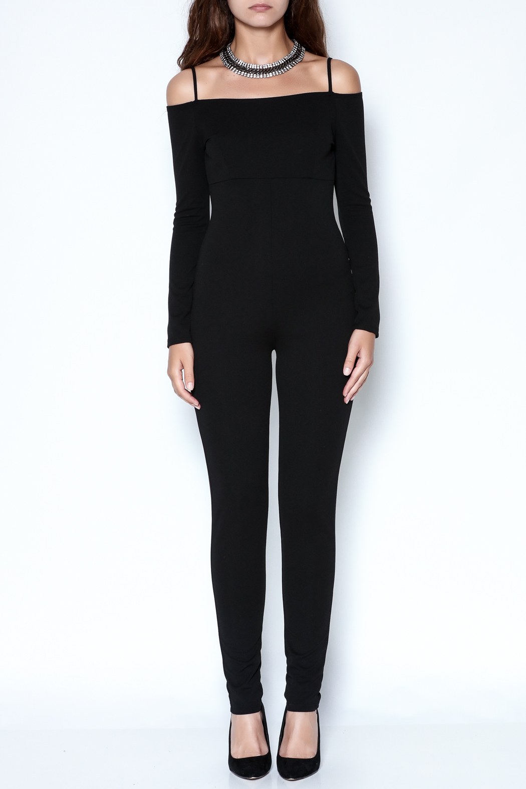 simple the label Long Sleeve Jumpsuit - Front Full Image