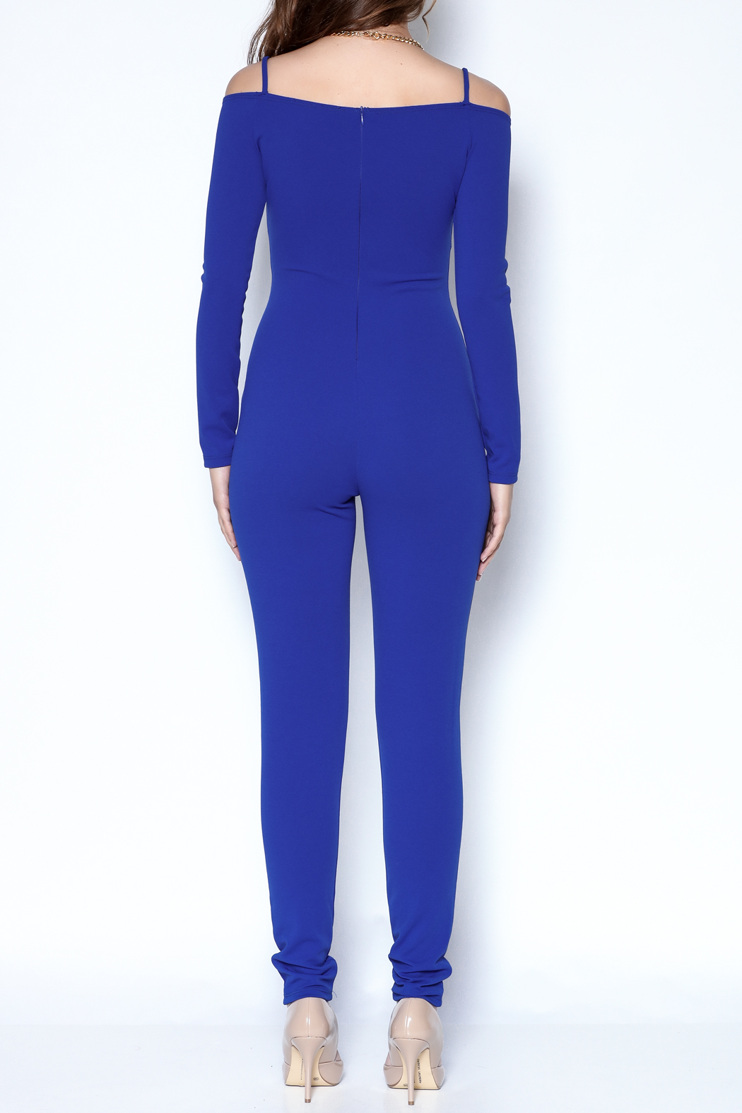 simple the label Long Sleeve Jumpsuit - Back Cropped Image