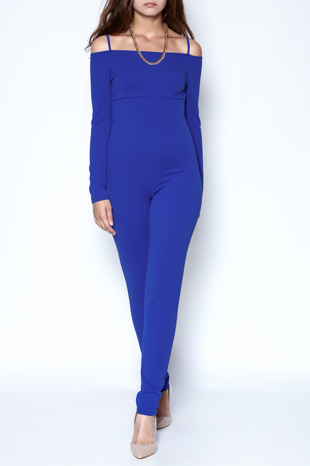 simple the label Long Sleeve Jumpsuit - Main Image