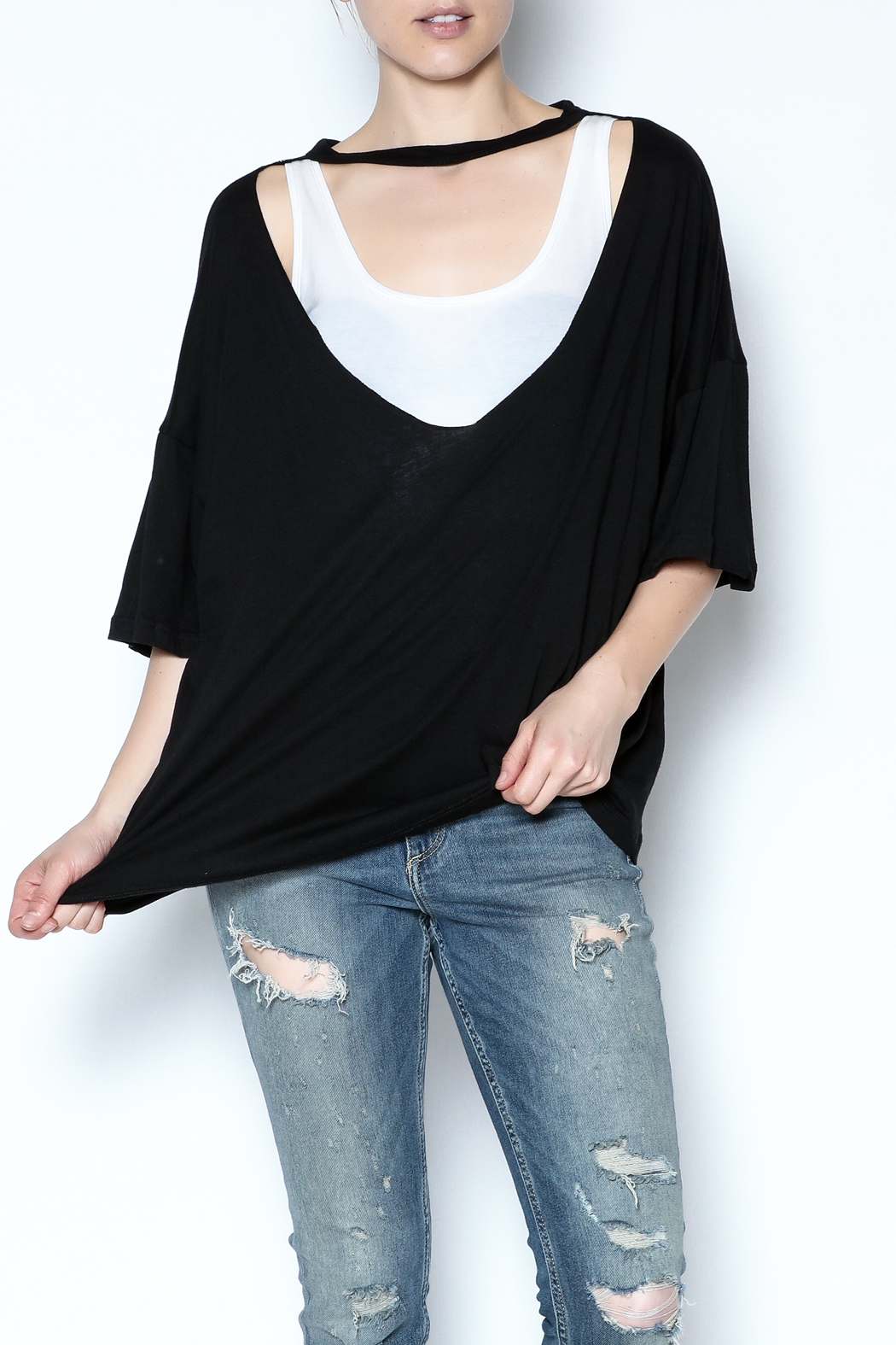 simple the label Metallic Back Tee - Front Cropped Image