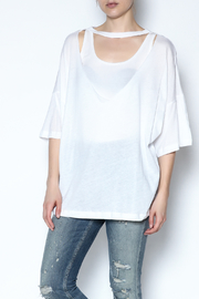 simple the label Metallic Back Tee - Front cropped