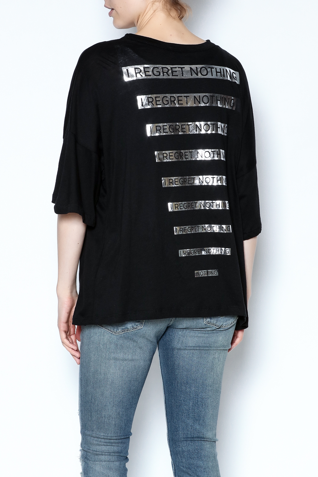 simple the label Metallic Back Tee - Back Cropped Image
