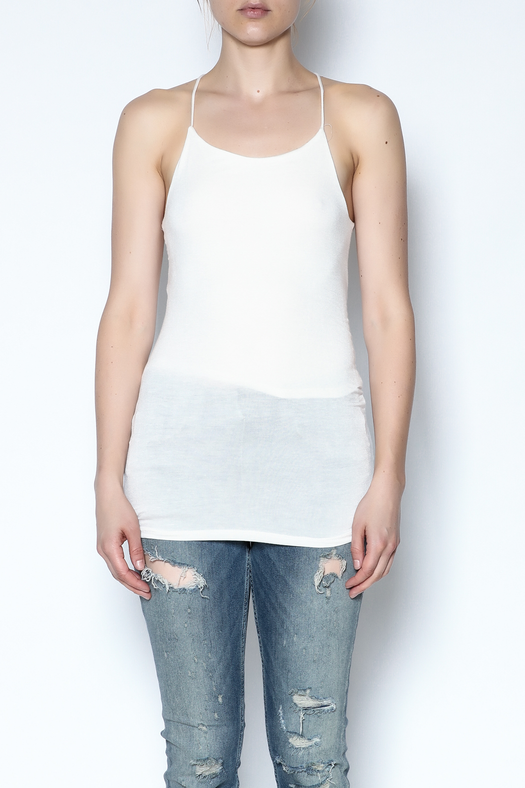 simple the label Open Back Cami - Front Full Image