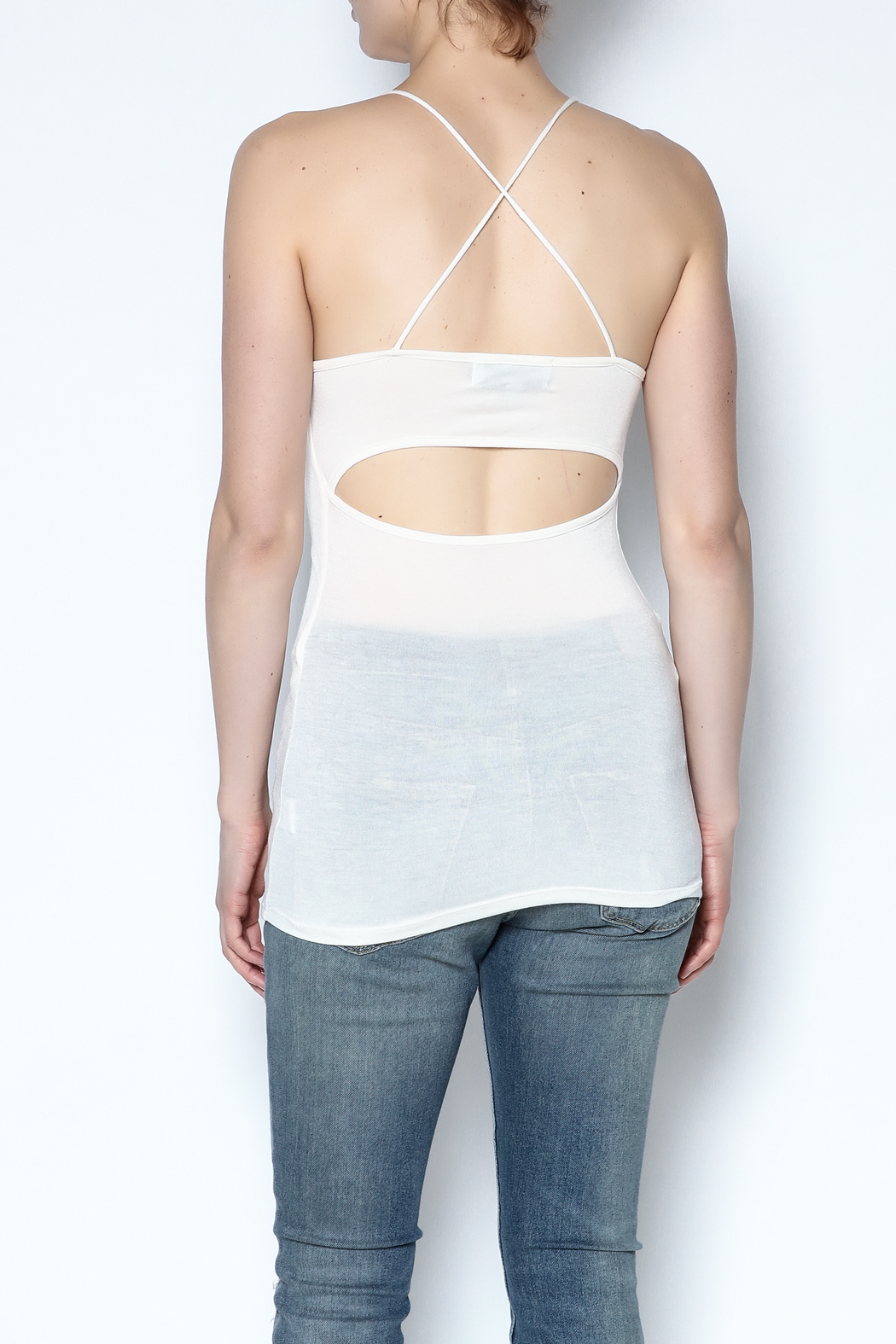 simple the label Open Back Cami - Back Cropped Image