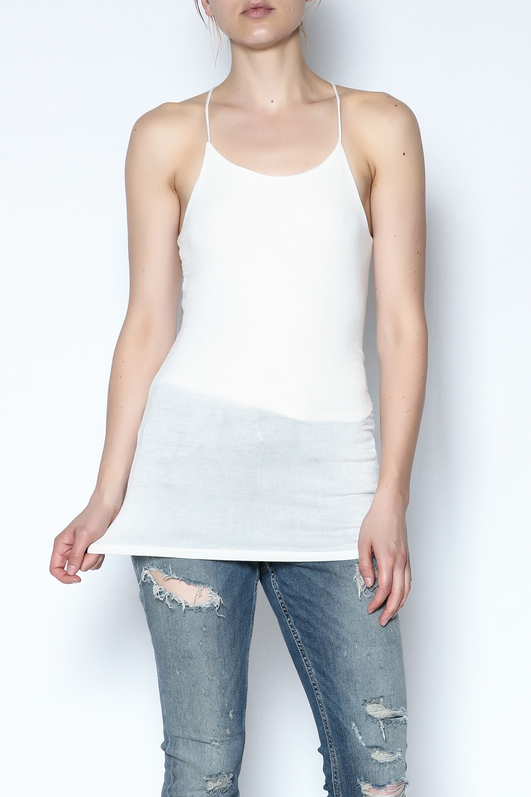 simple the label Open Back Cami - Front Cropped Image