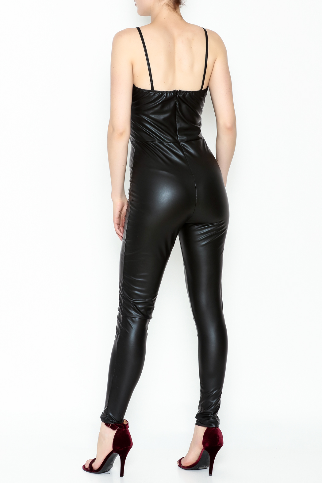 simple the label Faux Leather Body Suit - Back Cropped Image