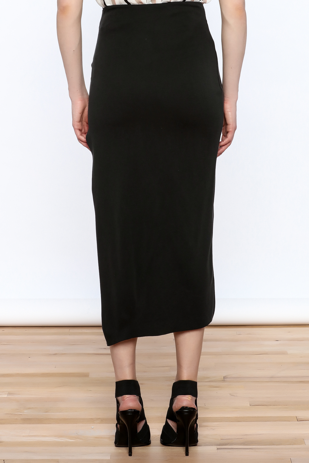 simple the label Modern Bodycon Skirt - Back Cropped Image