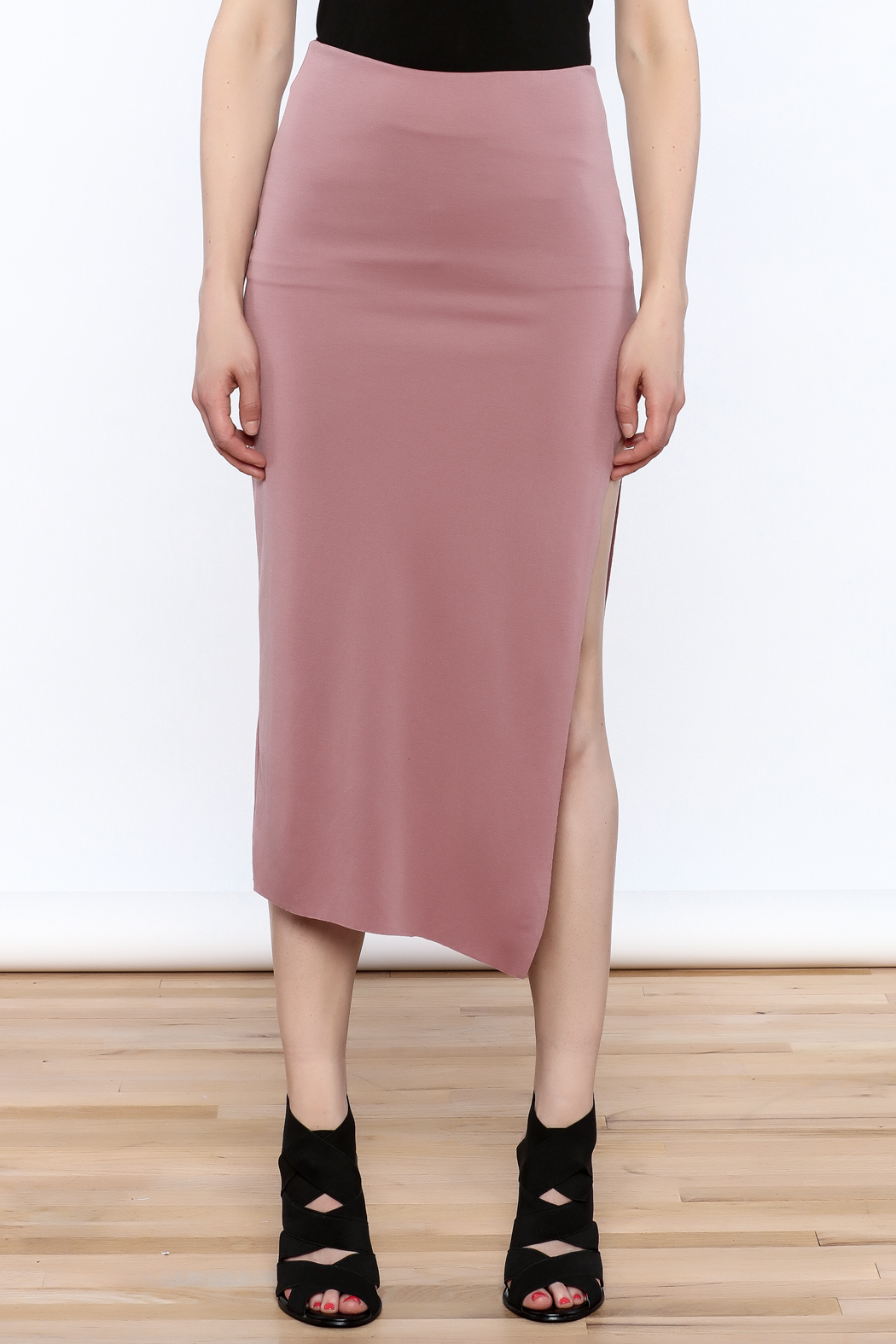 simple the label Modern Bodycon Skirt - Side Cropped Image