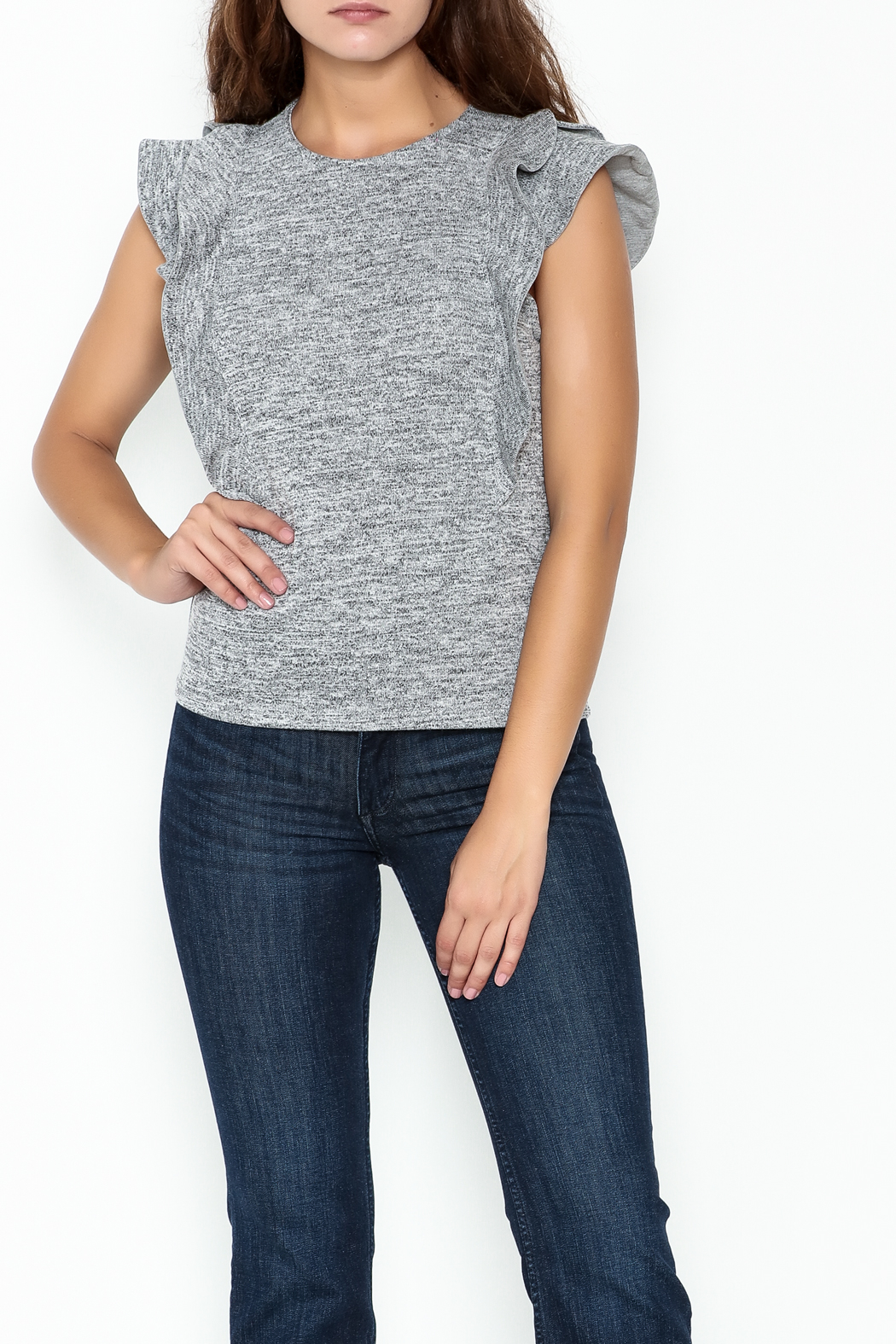 simple the label Sleeveless Ruffle Top - Main Image