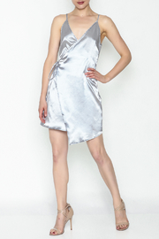 simple the label Satin Wrap Dress - Side cropped