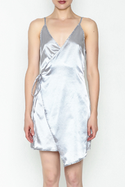 simple the label Satin Wrap Dress - Front full body