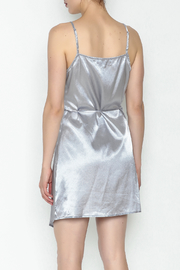 simple the label Satin Wrap Dress - Back cropped