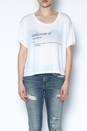 simple the label Tastemaker Tee - Front full body