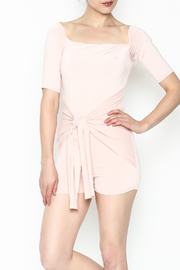 simple the label Tie Front Romper - Front cropped