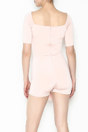simple the label Tie Front Romper - Back cropped