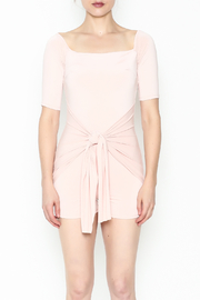 simple the label Tie Front Romper - Front full body