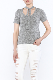 simple the label Tie Neck Top - Product Mini Image