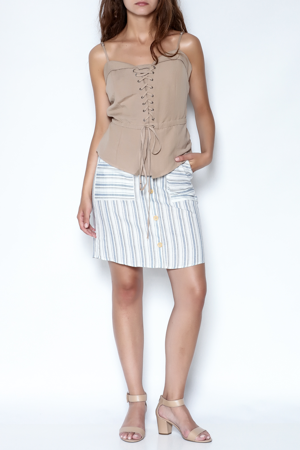 simple the label Tie Up Blouse - Side Cropped Image