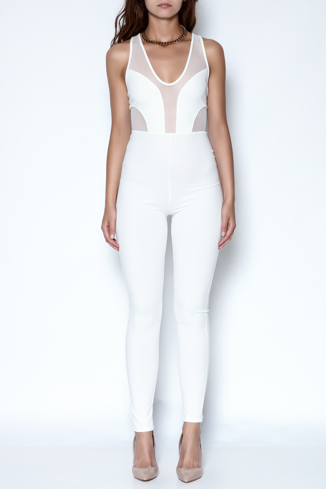 simple the label X Back Jumpsuit - Front Full Image