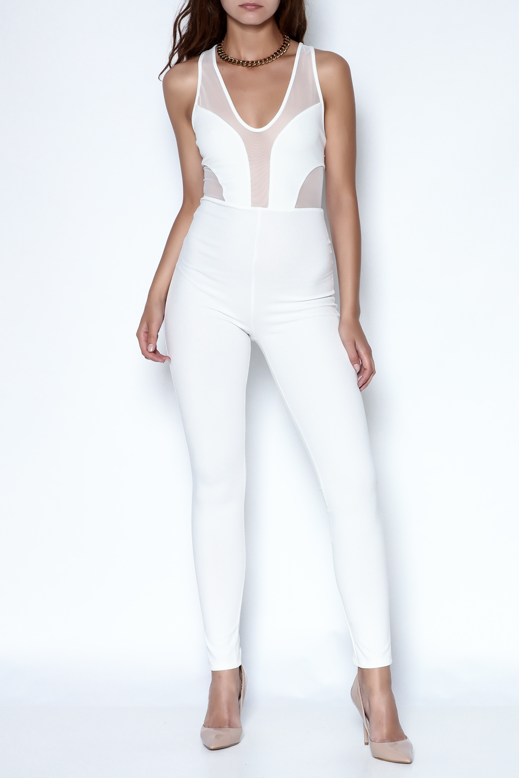 simple the label X Back Jumpsuit - Front Cropped Image