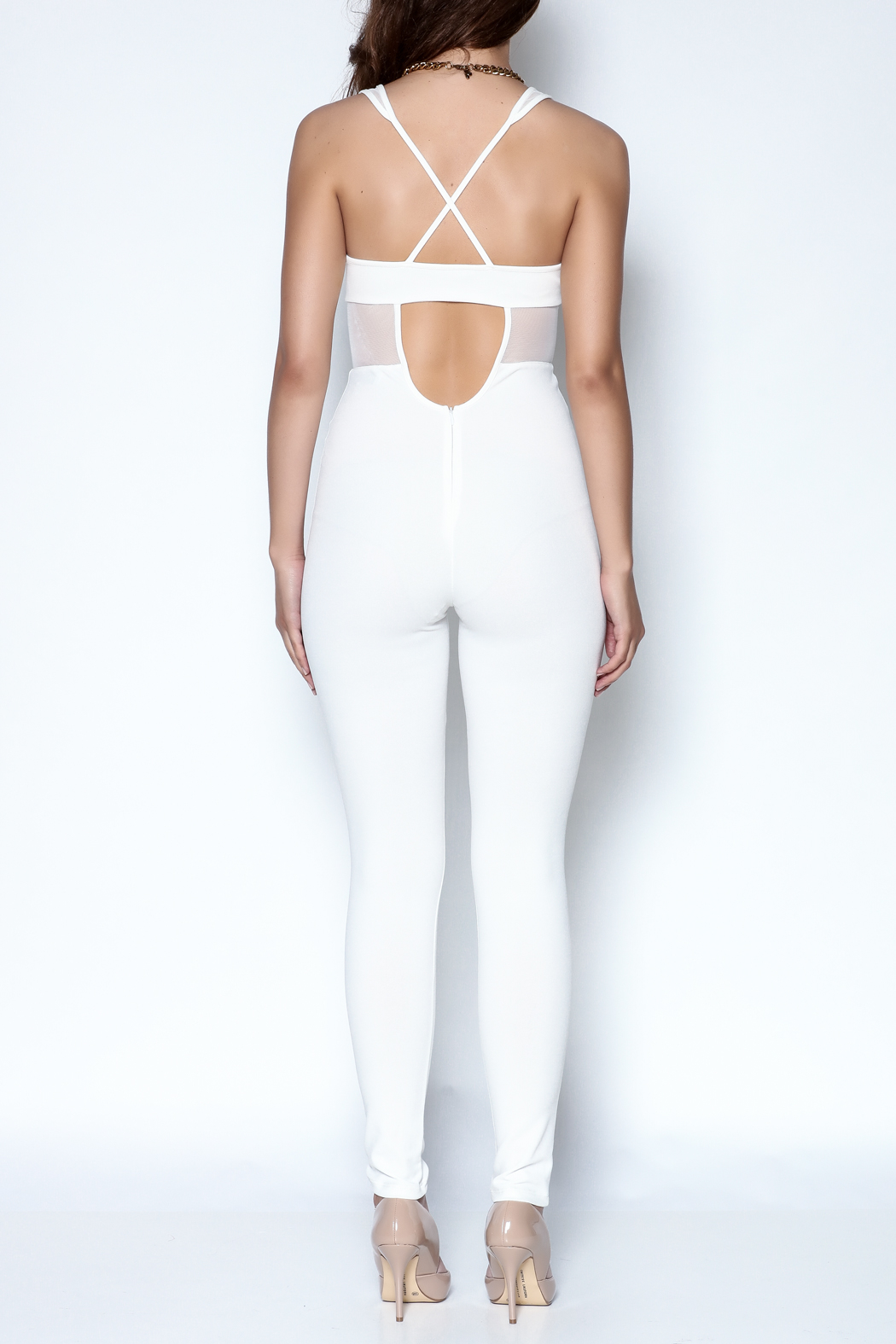 simple the label X Back Jumpsuit - Back Cropped Image