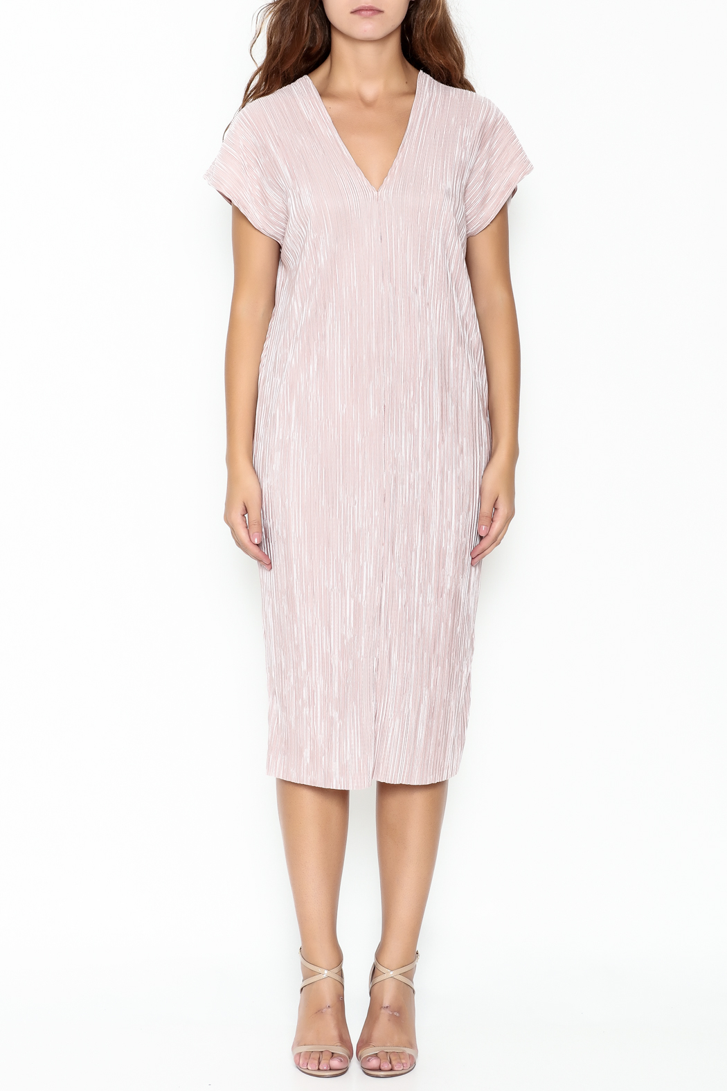Pinkyotto Simple V Dress - Front Full Image