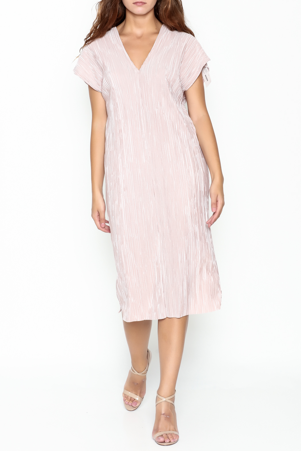 Pinkyotto Simple V Dress - Front Cropped Image
